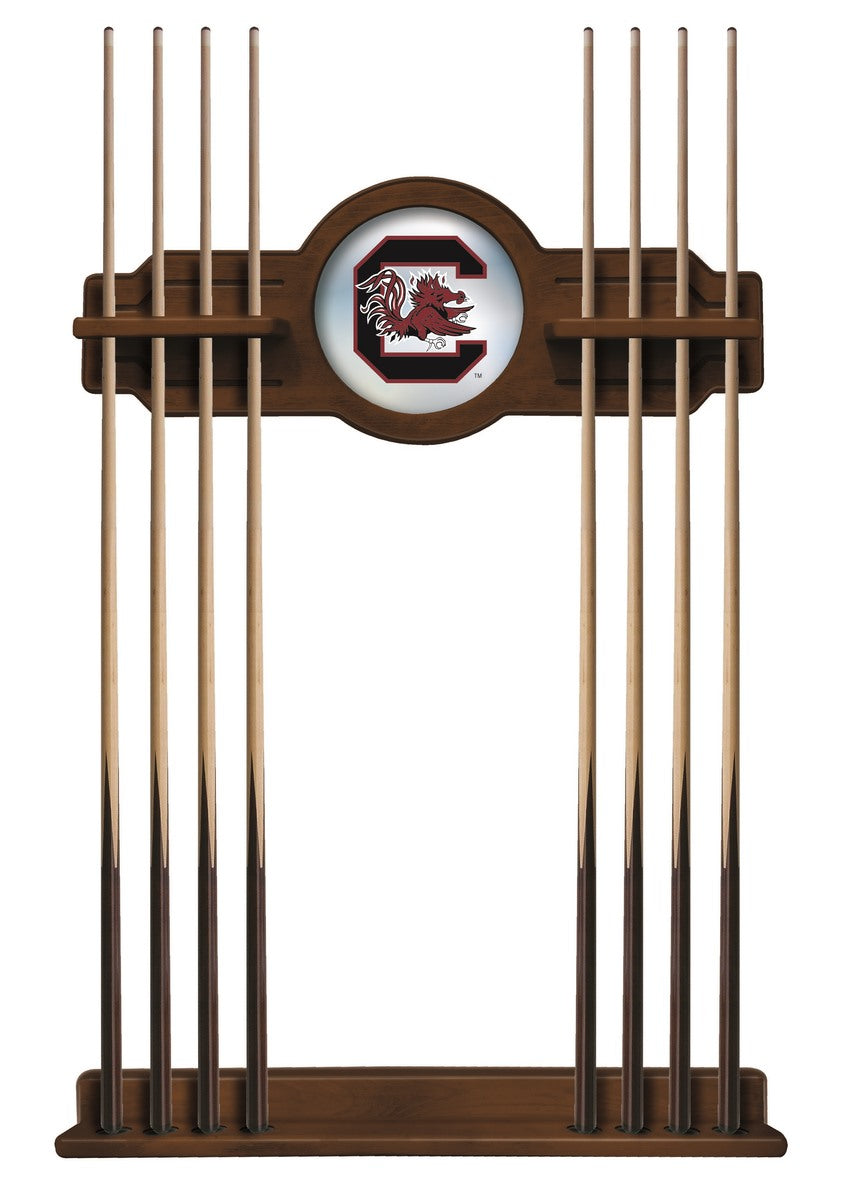 University of South Carolina Logo 8' Pool Table with Bonus Cue Rack - Man Cave Boutique