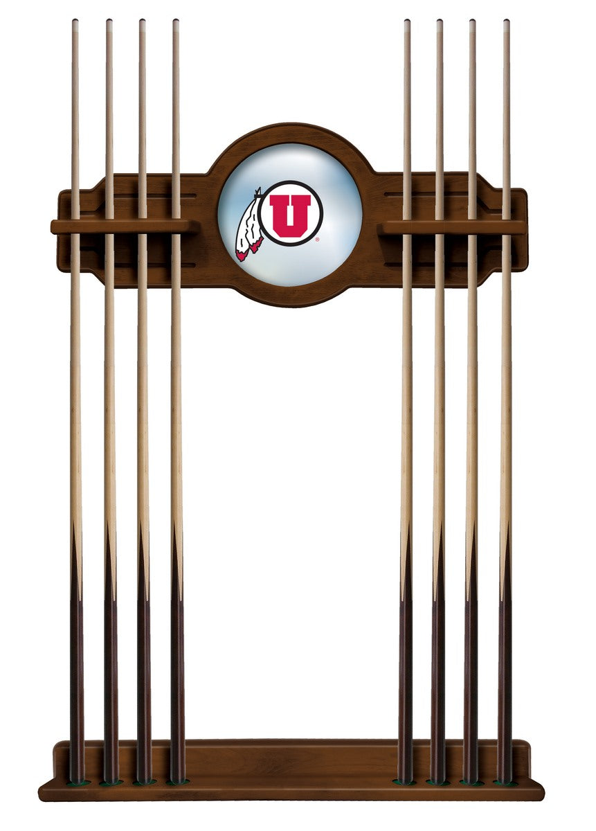 University of Utah Logo 8' Pool Table with Bonus Cue Rack - Man Cave Boutique