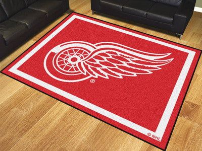 Rug 8x10 Detroit Red Wings NHL - Man Cave Boutique