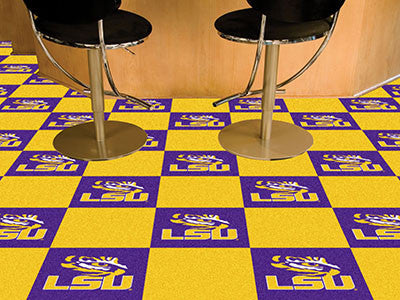 LSU Carpet Tiles - Man Cave Boutique