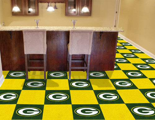 Green Bay Packers NFL Carpet Tiles - Man Cave Boutique