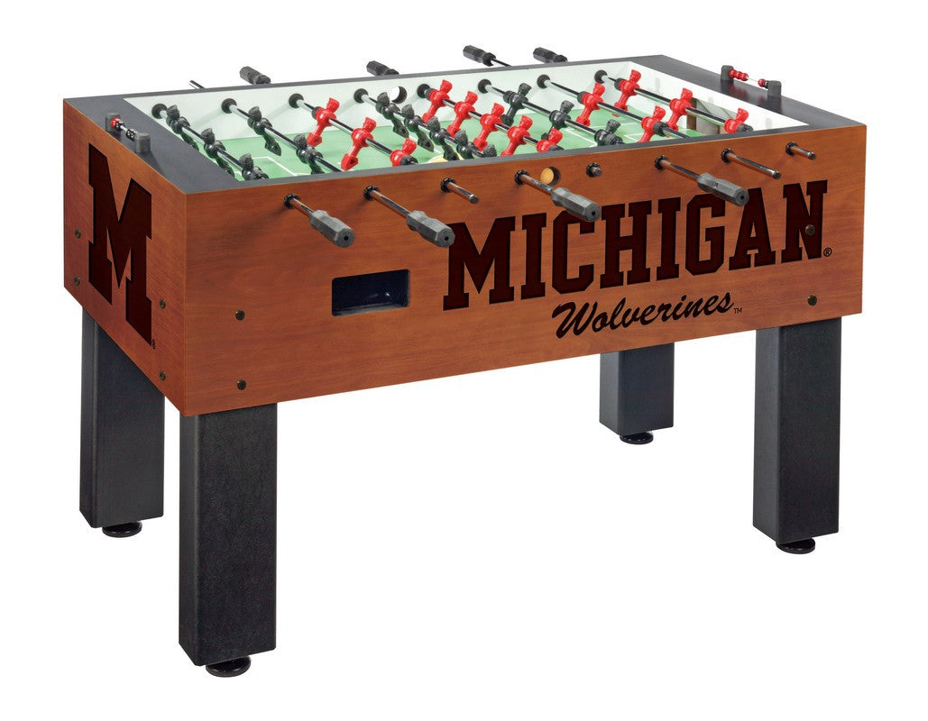 University of Michigan logo Foosball Table - Man Cave Boutique