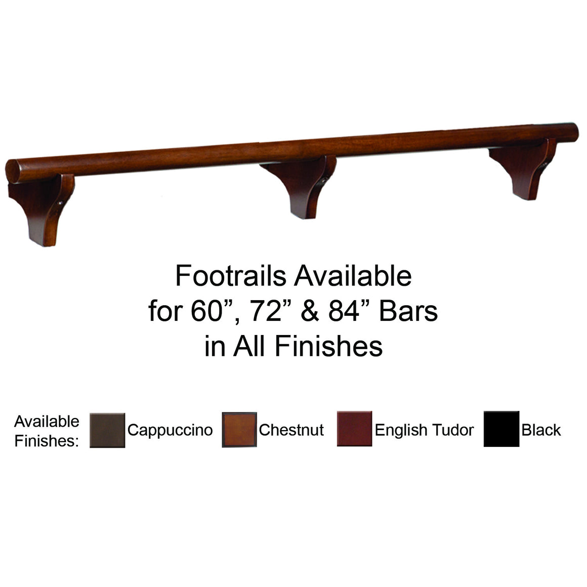 Foot Rail For 84″ Bar - Man Cave Boutique