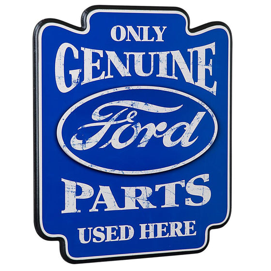 "Ford Genuine Parts Pub Sign - 19""W x 22""H - Man Cave Boutique"