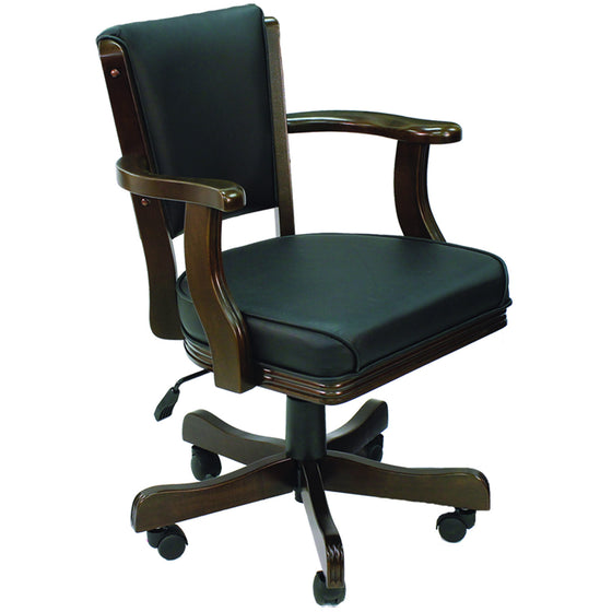 Swivel Game Chair Cappuccino Finish - Man Cave Boutique