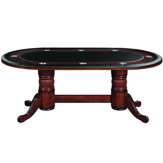 "Poker Table 84"" - Chestnut Finish - Man Cave Boutique"