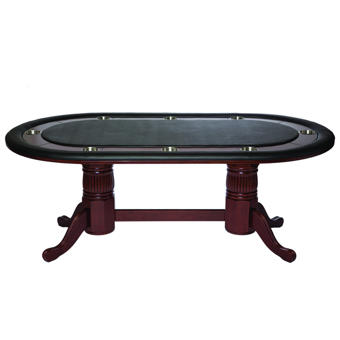 "Poker Table 84"" - Cappuccino Finish - Man Cave Boutique"