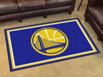Rug 4x6 Golden State Warriors NBA - Man Cave Boutique