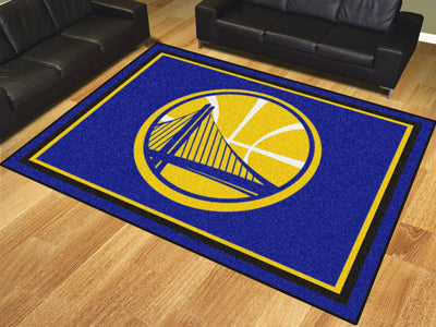 Rug 8x10 Golden State Warriors NBA - Man Cave Boutique