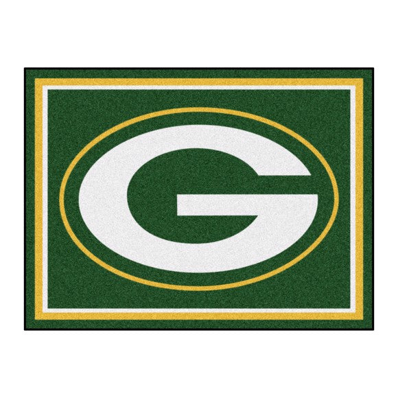 Rug 8x10 Green Bay Packers NFL - Man Cave Boutique
