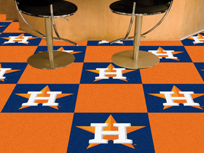 Houston Astros MLB Logo Carpet Tiles - Man Cave Boutique