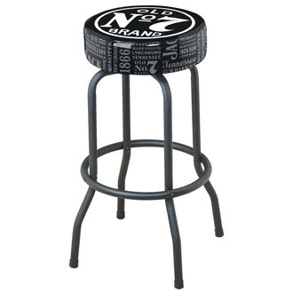 Jack Daniel's® Bar Stool with Old No. 7 Brand repeat Logo - Man Cave Boutique