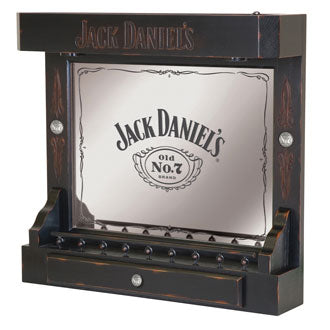 Jack Daniel's® Wood Back Bar with Screen Printed Mirror - Man Cave Boutique