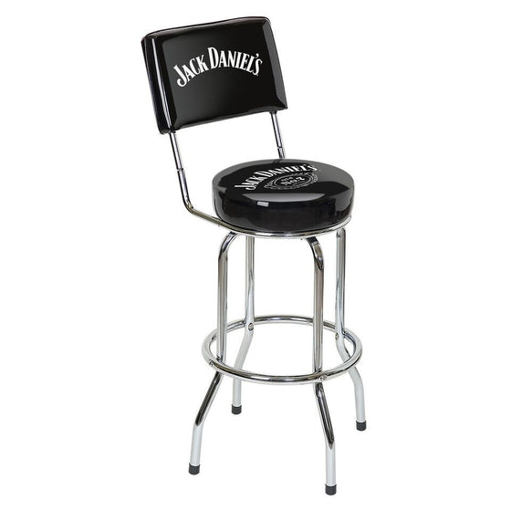 Jack Daniel's® Bar Stool with Backrest - Man Cave Boutique