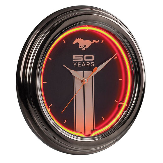 "Ford Mustang Fifty Years 14.5"" Neon Clock - Man Cave Boutique"