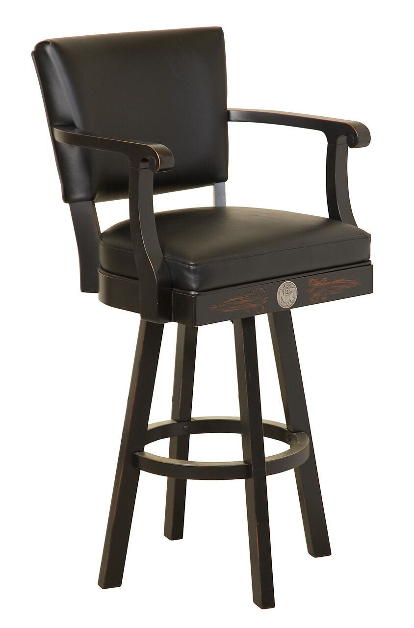 Jack Daniel's ® Old No. 7 Brand Wood Pub Table with 2 Bar Stools Set - TN Charcoal JD-33201 - Man Cave Boutique
