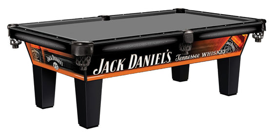 Jack Daniel's 8' Pool Table Tennessee Whiskey Logo - Man Cave Boutique
