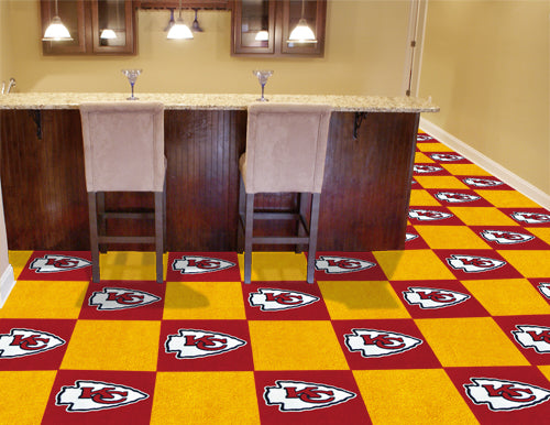 Kansas City Chiefs NFL Logo Carpet Tiles - Man Cave Boutique