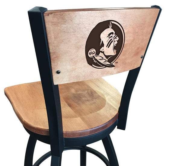 Florida State University Logo Laser Engraved Wood Bar Stool - Man Cave Boutique