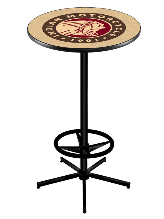 Indian Motorcycle Logo Pub Table L216 Black - Man Cave Boutique