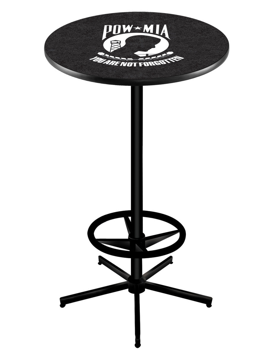 POW/MIA Logo Pub Table L216 Black - Man Cave Boutique