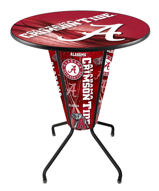 Alabama Crimson Tide Pub Table - LED Lighted Logo - Man Cave Boutique