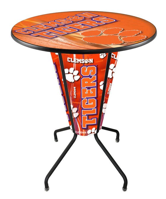Clemson LED Lighted Logo Pub Table - Man Cave Boutique