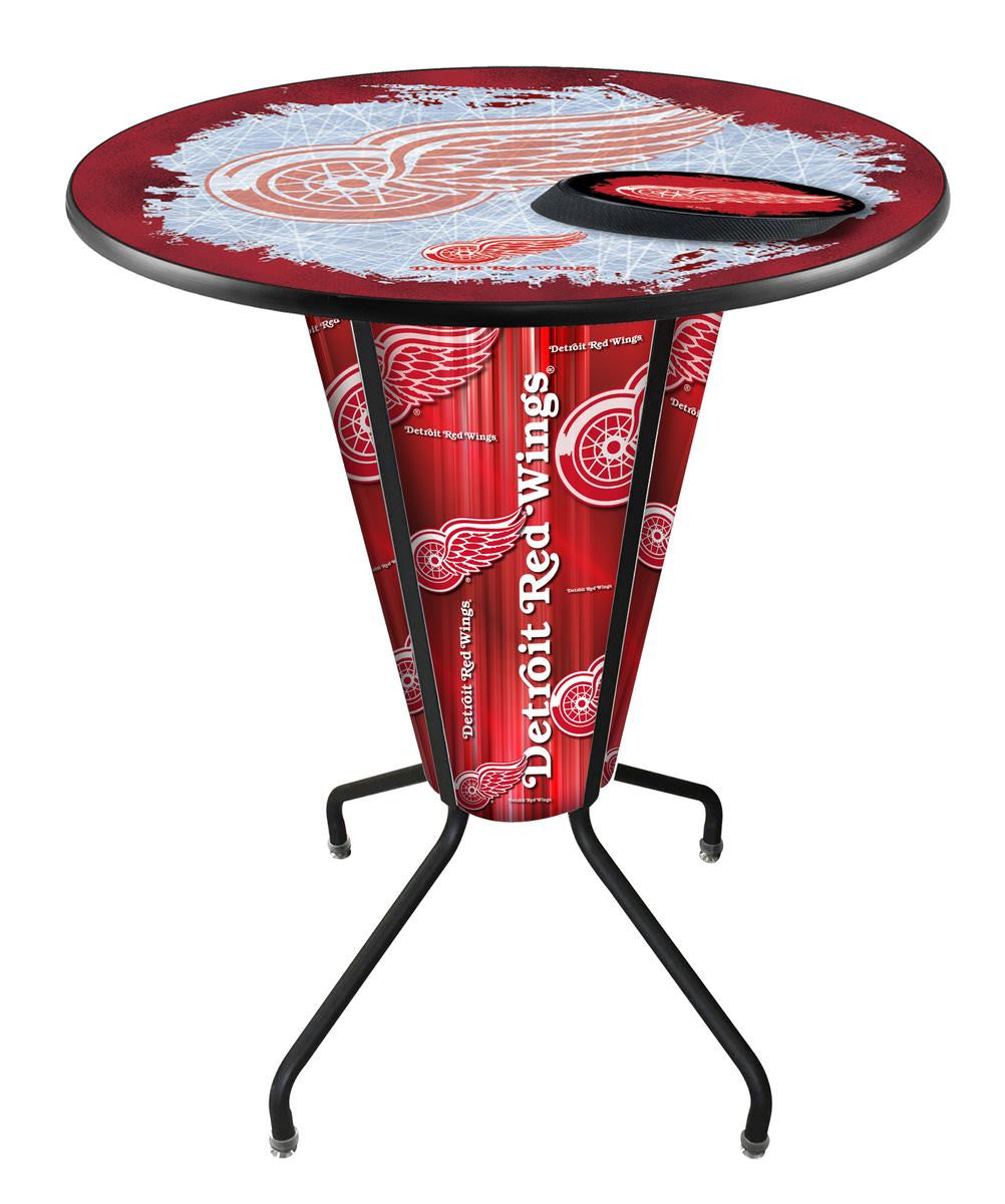 Detroit Red Wings NHL Lighted Logo Pub Table - Man Cave Boutique