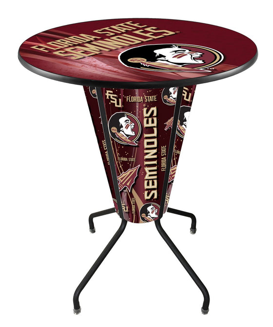 Florida State University Logo LED Lighted Pub Table - Man Cave Boutique