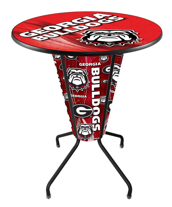 "Georgia ""Bulldogs"" Lighted Logo Pub Table L218 - Man Cave Boutique"