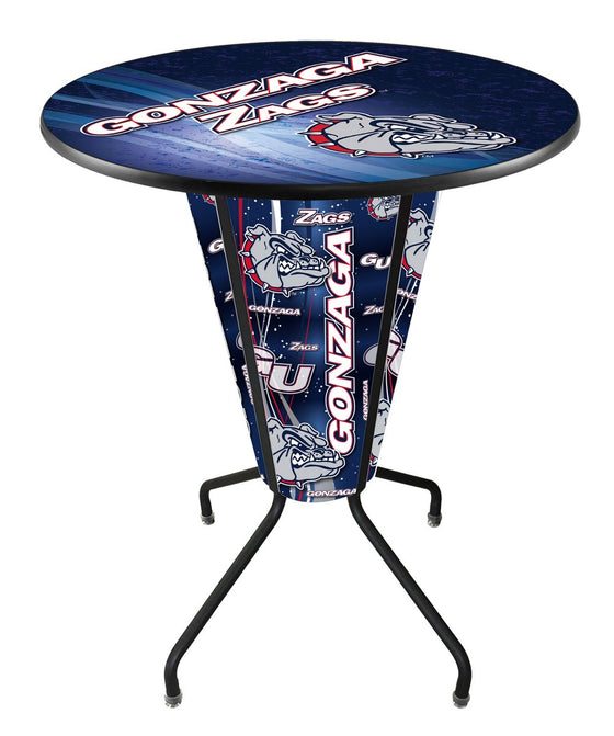Gonzaga University Logo LED Lighted Pub Table - Man Cave Boutique