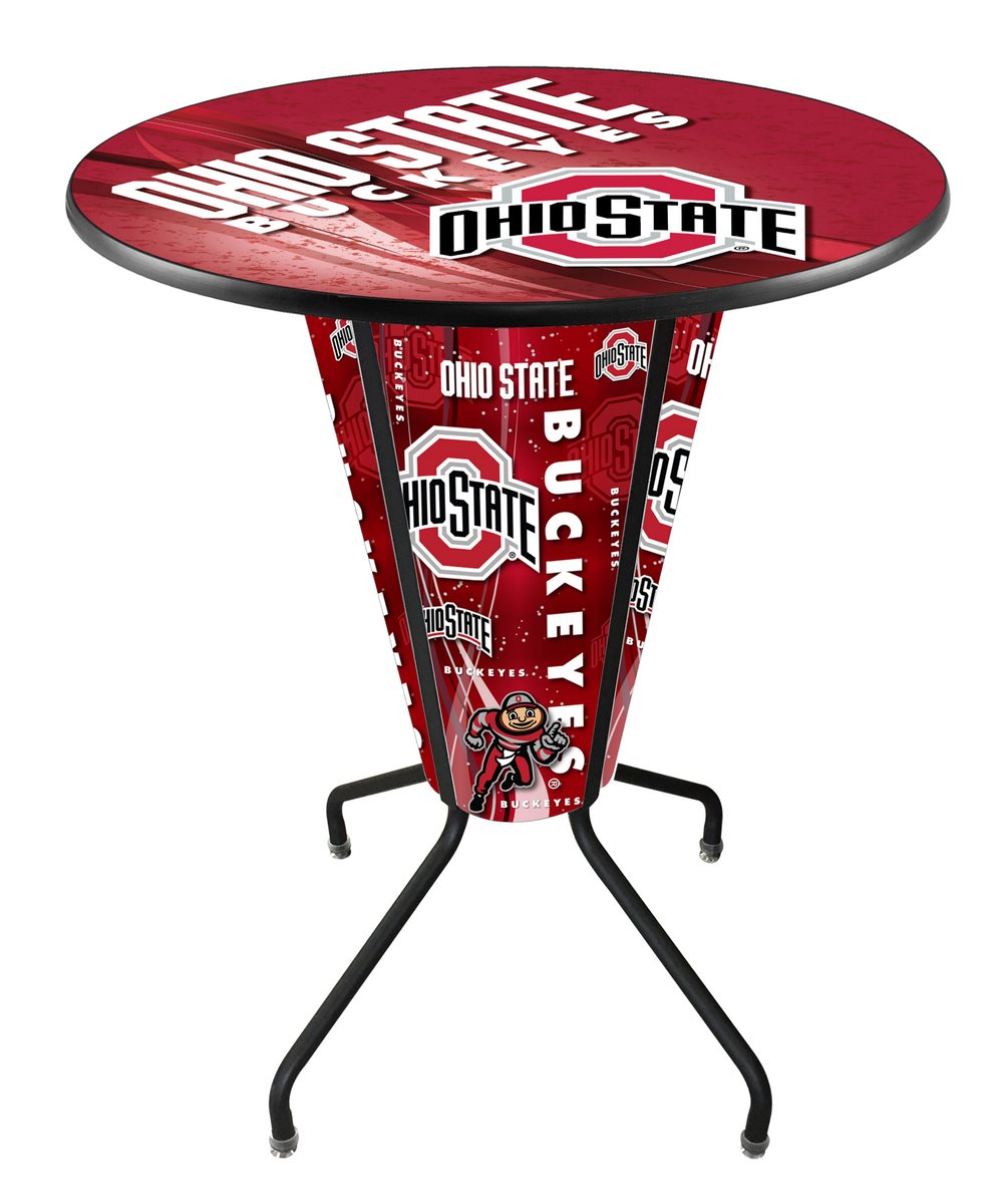 Ohio State University Logo LED Lighted Pub Table - Man Cave Boutique
