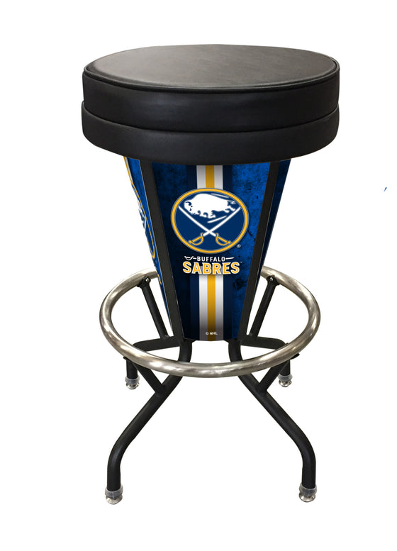 Buffalo Sabres NHL Logo LED Lighted Bar Stool - Man Cave Boutique
