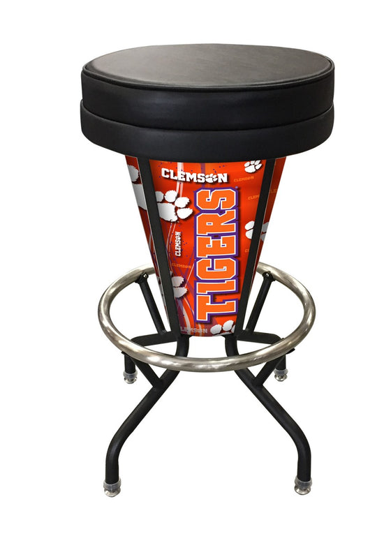 Clemson University LED Lighted Logo Bar Stool - Man Cave Boutique