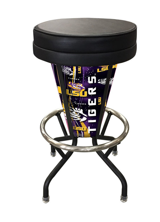 LSU Lighted LED Logo Bar Stool L5000 - Man Cave Boutique