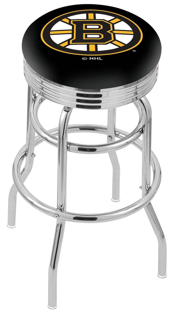 Boston Bruins NHL Logo Bar Stool - Man Cave Boutique