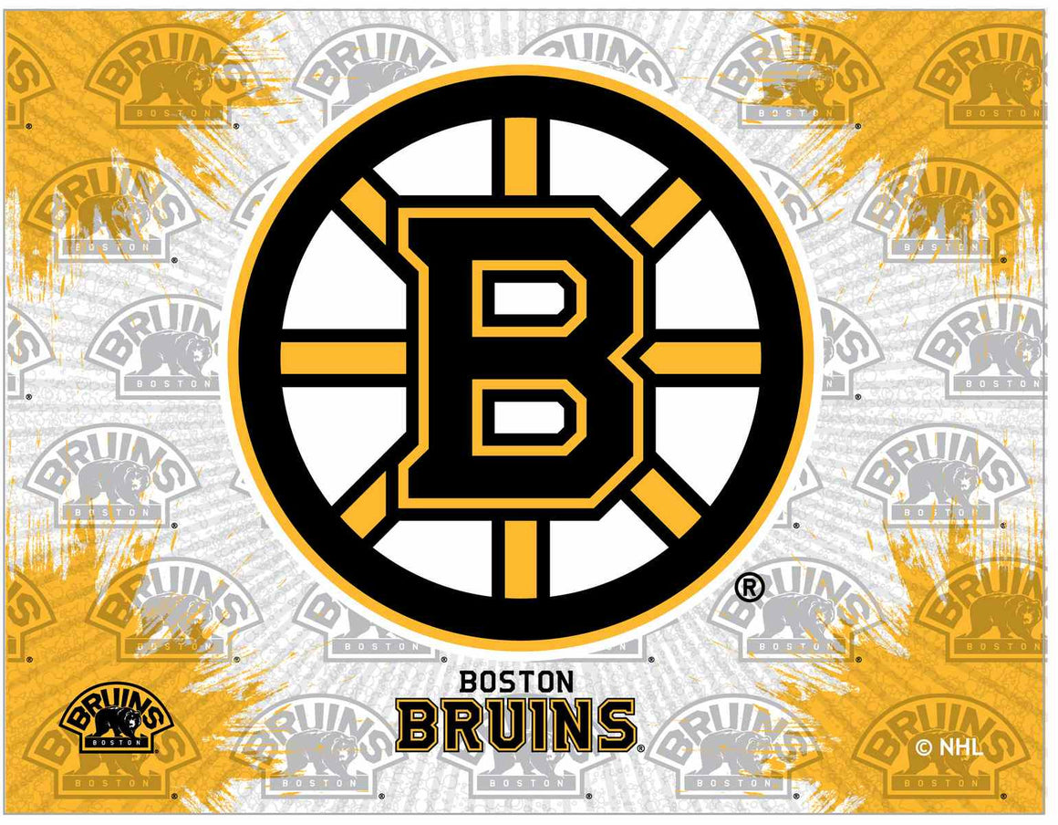 "Boston Bruins 24"" x 32"" Logo Printed Canvas Wall Art - Man Cave Boutique"