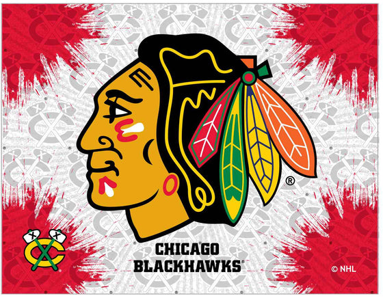 "Chicago Blackhawks 24"" x 32"" Logo Printed Canvas Wall Art - Man Cave Boutique"