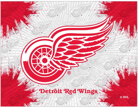 "Detroit Red Wings 24"" x 32"" Logo Printed Canvas Wall Art - Man Cave Boutique"