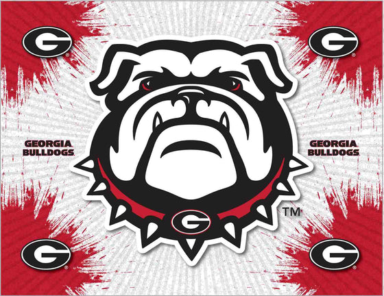 Georgia Bulldogs Canvas Wall Art 24x32 - Man Cave Boutique