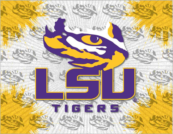 Louisiana State Logo Printed Canvas Art 24x32 - Man Cave Boutique