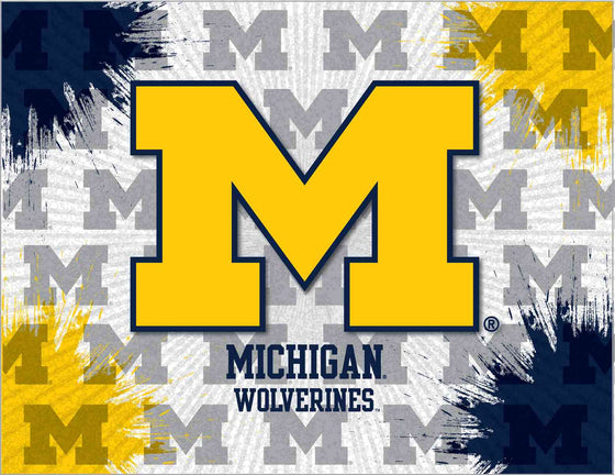 University Of Michigan Printed Canvas Wall Art - Man Cave Boutique