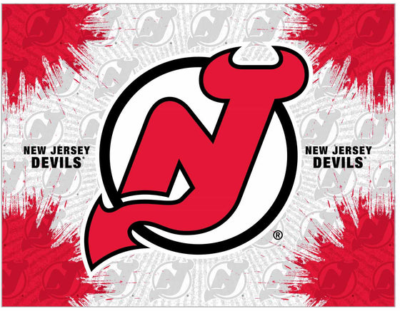 "New Jersey Devils 24"" x 32"" Logo Printed Canvas Wall Art - Man Cave Boutique"