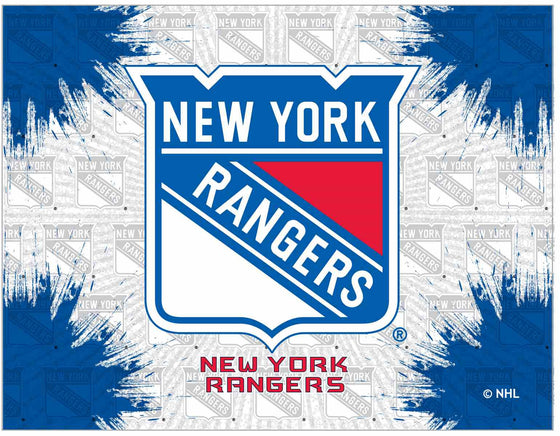 "New York Rangers 24"" x 32"" Logo Printed Canvas Wall Art - Man Cave Boutique"