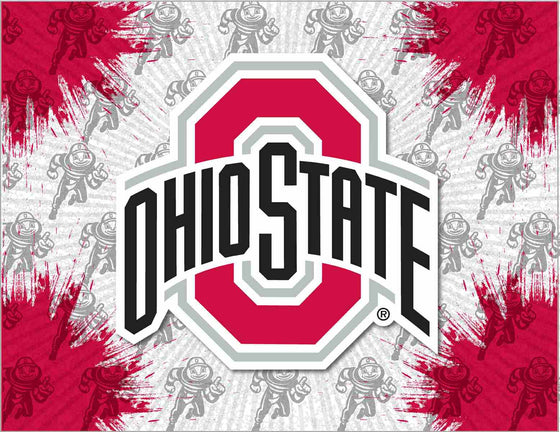 Ohio State Logo Printed Canvas Art 24x32 - Man Cave Boutique