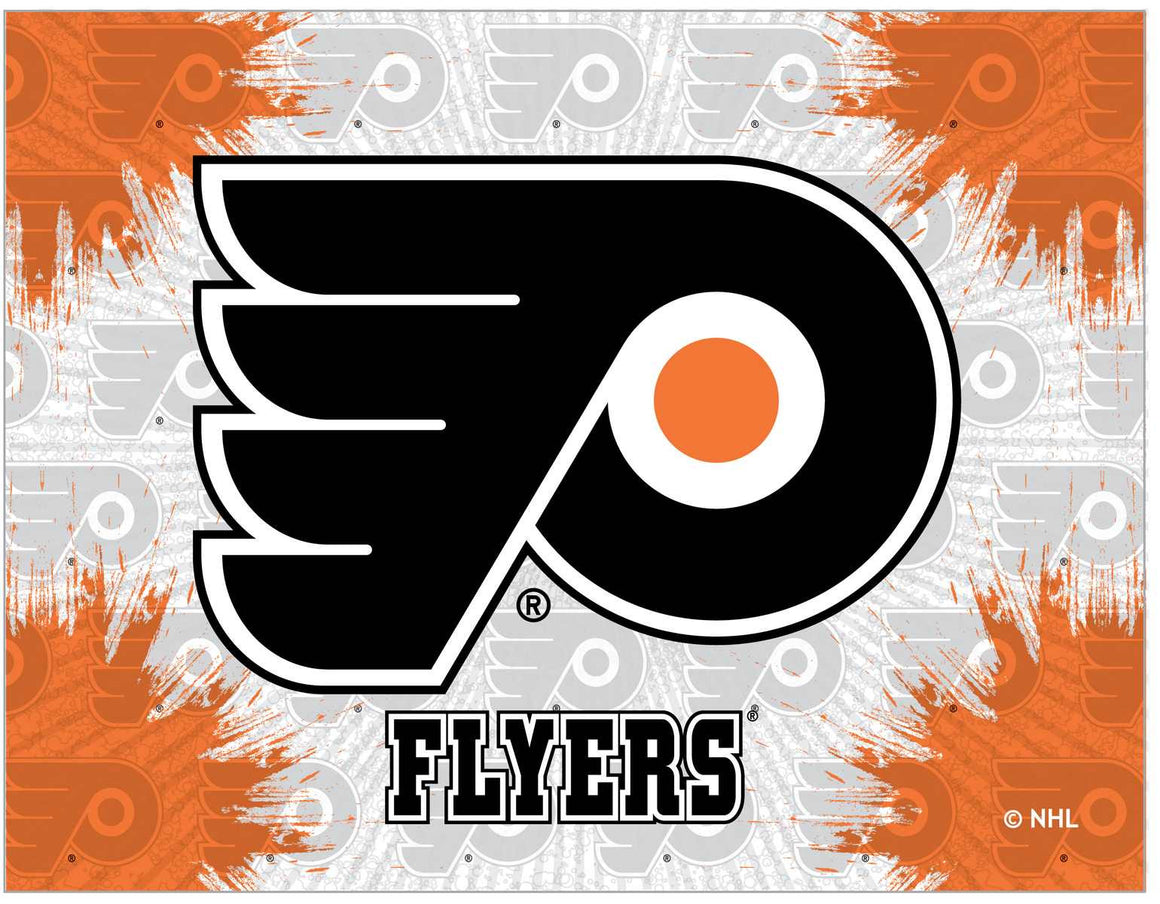 "Philadelphia Flyers 24"" x 32"" Logo Printed Canvas Wall Art - Man Cave Boutique"