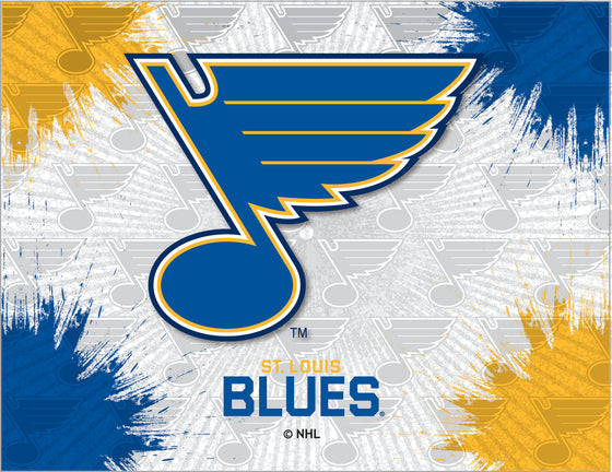 St. Louis Blues NHL Logo Printed Canvas Wall Art 24x32 - Man Cave Boutique