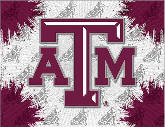 "Texas A&M 24"" x 32"" Logo Printed Canvas Art - Man Cave Boutique"