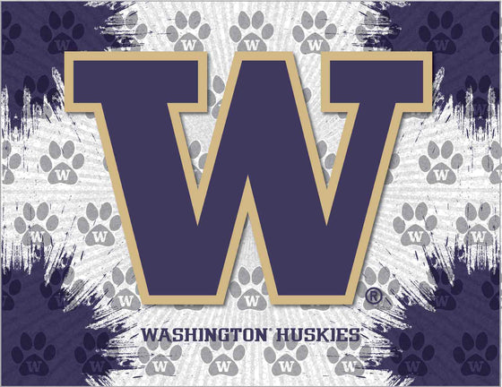 "University of Washington 24"" x 32"" Logo Printed Canvas Wall Art - Man Cave Boutique"