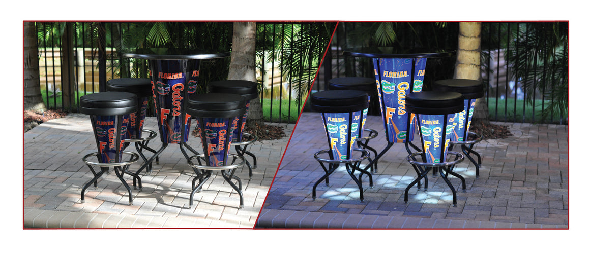 LSU Logo LED Lighted Pub Table L218 - Man Cave Boutique